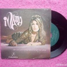 Discos de vinilo: SINGLE IVANA - DIAS PARA UN MAÑANA / QUIERO ROMPER TUS CARTAS - COLUMBIA MO 495 - PROMO (EX-/EX+). Lote 205550361