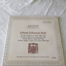 Discos de vinilo: JOHANN SEBASTIAN BACH.HELMUT WALCHA. TOCATA Y FUGA. TOC. DÓRICA, T. ADAGIO Y FUGA. ARCHIV. LP. 1977.. Lote 205550462