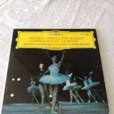 Discos de vinilo: DELIBES:COPPELIA.CHOPIN-DOUGLAS:LAS SILFIDES.H.VON KARAJAN.ORQ.FILAR.BERLIN. DEUSTCHE GRAMMOPHON. LP. Lote 205551906