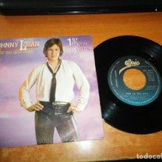 Discos de vinilo: JOHNNY LOGAN POR UN AÑO MAS EUROVISION 1980 SINGLE VINILO 1980 ESPAÑA CONTIENE 2 TEMAS. Lote 205565662