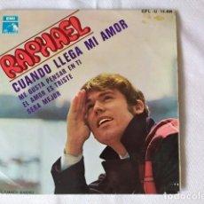 Discos de vinilo: RAPHAEL – CUANDO LLEGA MI AMOR ESPAÑA 1968. Lote 205569863