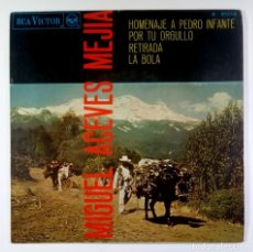 Discos de vinilo: MIGUEL ACEVES MEJIA - HOMENAJE A PEDRO INFANTE - EP 1967 - RCA. Lote 205571821