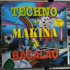 Discos de vinilo: TECHNO + MAKINA & BACALAO (BLANCO Y NEGRO MXLP-305) (VINYL, 2LPS, ALBUM). Lote 205576962