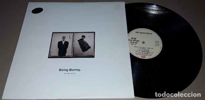 MAXI SINGLE- PET SHOP BOYS - BEING BORING - PET SHOP BOYS - WE ALL FEEL BETTER IN THE DARK (Música - Discos de Vinilo - Maxi Singles - Pop - Rock Extranjero de los 90 a la actualidad)