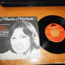 Discos de vinilo: MARIE MYRIAM L´OISEAU ET L´ENFANT EUROVISION 1977 SINGLE VINILO 1977 ESPAÑA POLYDOR 2 TEMAS. Lote 205578925