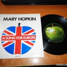 Discos de vinilo: MARY HOPKIN KNOCK, KNOCK WHO´S THERE? EUROVISION 1970 SINGLE VINILO UK BEATLES APPLE. Lote 205581088
