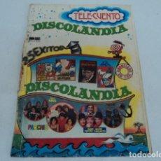 Discos de vinilo: LIBRO MUSICAL TELE CUENTO DISCOLANDIA PARCHIS REGALIZ GRUPO MINS LOS PAYASOS DE LA TELE BELTER. Lote 205583681