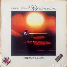 Discos de vinilo: BARRY WHITE : I LOVE TO SING [ESP 1979] LP. Lote 205586215