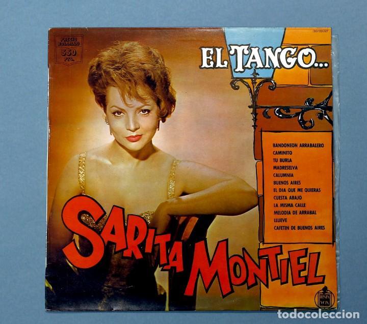 VINILO LP DE SARITA, SARA, MONTIEL: EL TANGO (DESDE LA ARGENTINA). HISPAVOX, 1984. EXCELENTE ESTADO. (Música - Discos - LP Vinilo - Solistas Españoles de los 50 y 60)
