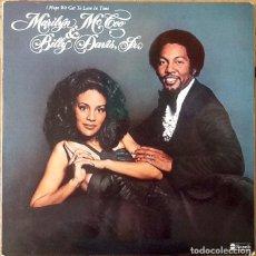 Discos de vinilo: MARILYN MC COO & BILLY DAVIS JR. : I HOPE WE GET TO LOVE IN TIME [ESP 1976] LP. Lote 205588413