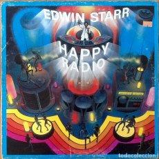 Discos de vinilo: EDWIN STARR : HAPPY RADIO [FRA 1979] LP. Lote 205588785
