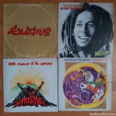 Discos de vinilo: 4 VINILOS BOB MARLEY. Lote 205590075