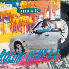 Discos de vinilo: SINGLE ( VINILO) DE VANILLA ICE AÑOS 90. Lote 205592250