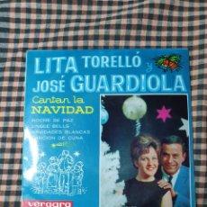 Discos de vinilo: LITA TORELLÓ Y JOSÉ GUARDIOLA, CANTAN LA NAVIDAD, VERGARA 55 0107 C, 1963.. Lote 205592285