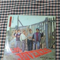 Discos de vinilo: LOS JÓVENES ADIÓS MI AMOR, QUE LLORAR, BAJO TU TECHO, CORAZÓN DE PIEDRA, DISCOPHON 27.450, 1965.. Lote 205593426