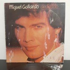 Discos de vinilo: MIGUEL GALLARDO. DEDICADO. RCA. 1987. ESPAÑA.. Lote 205599282