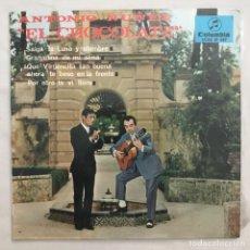 Discos de vinilo: ANTONIO NUÑEZ EL CHOCOLATE – SALGA LA LUNA Y ALUMBRE GRANADINA DE MI ALMA QUE VIRGENCITA TAN 1967. Lote 205600802