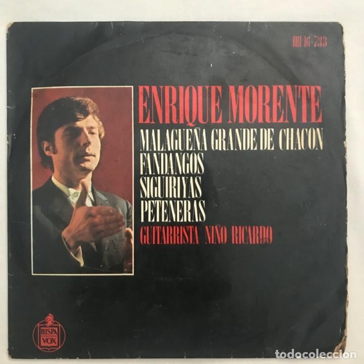 ENRIQUE MORENTE , MALAGEÑA GRANDE DE CHACO FANDANGOS, GUITARRA NIÑO RICARDO 1970 (Música - Discos de Vinilo - EPs - Flamenco, Canción española y Cuplé)