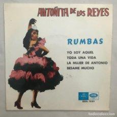 Discos de vinilo: ANTOÑITA DE LOS REYES – RUMBAS 1966. Lote 205602947