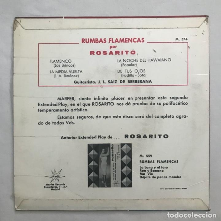 Discos de vinilo: Rosarito – Flamenco 1965 - Foto 2 - 205603046