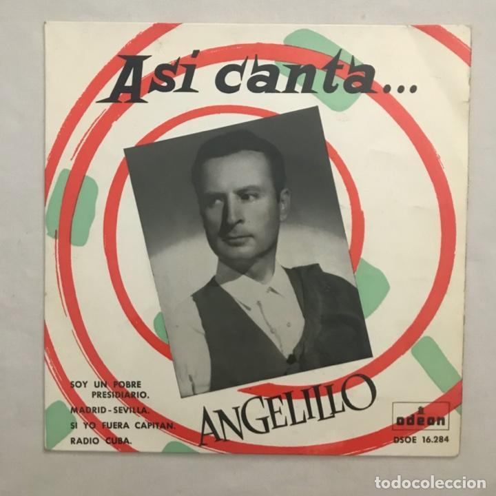 ANGELILLO – ASI CANTA... 1959 (Música - Discos de Vinilo - EPs - Flamenco, Canción española y Cuplé)