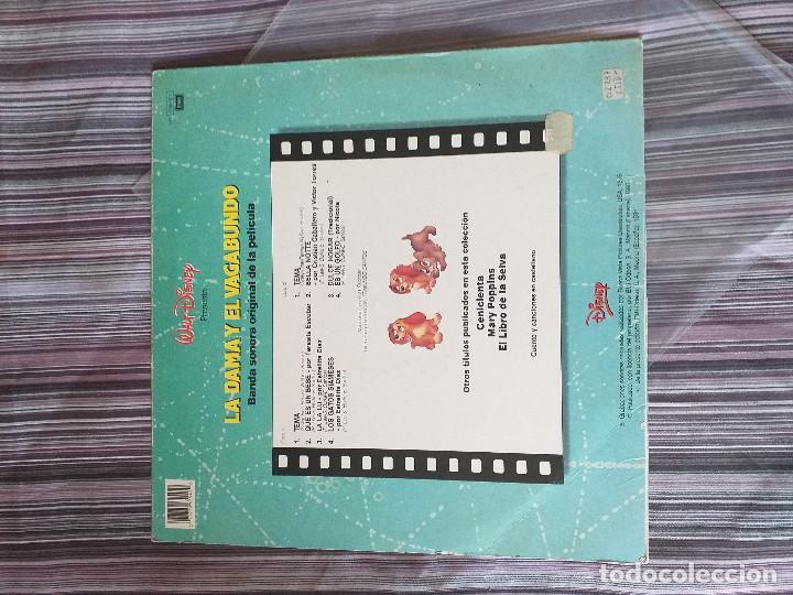 Discos de vinilo: VINILO BSO LA DAMA Y EL VAGABUNDO WALT DISNEY 1991 - Foto 2 - 205604255