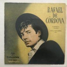 Discos de vinilo: RAFAEL DE CÓRDOVA  CASTILLA / VIVA NAVARRA. Lote 205604531