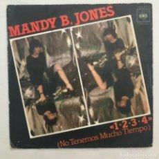 Discos de vinilo: MANDY B. JONES  1-2-3-4 NO TENEMOS MUCHO TIEMPO 1977. Lote 205604658