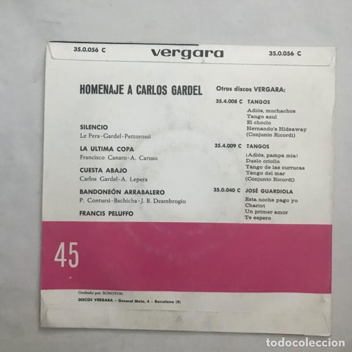Discos de vinilo: Homenaje a Carlos Gardel Francis peluffo - Foto 2 - 205605035
