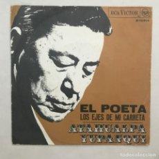Discos de vinilo: ATAHUALPA YUPANQUI – EL POETA / LOS EJES DE MI CARRETA. Lote 205605830