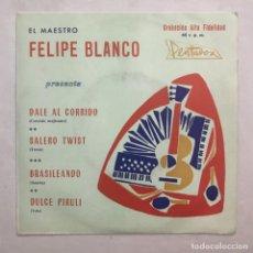 Discos de vinilo: FELIPE BLANCO – EL MAESTRO FELIPE BLANCO 1969. Lote 205606010