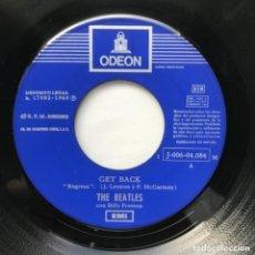 Discos de vinilo: THE BEATLES CON BILLY PRESTON – GET BACK / DON'T LET ME DOWN 1969. Lote 205606128