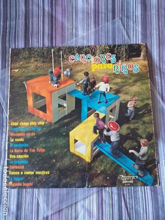 VINILO CANCIONES PARA NIÑOS OLYMPO 1973 CHIPI CHAPA FANTASMAS GOGO MOSQUITO YEYE EL COCHERITO (Música - Discos - LPs Vinilo - Música Infantil)