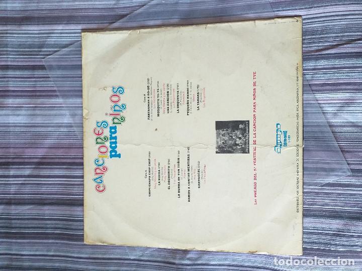 Discos de vinilo: VINILO CANCIONES PARA NIÑOS OLYMPO 1973 CHIPI CHAPA FANTASMAS GOGO MOSQUITO YEYE EL COCHERITO - Foto 2 - 205606143