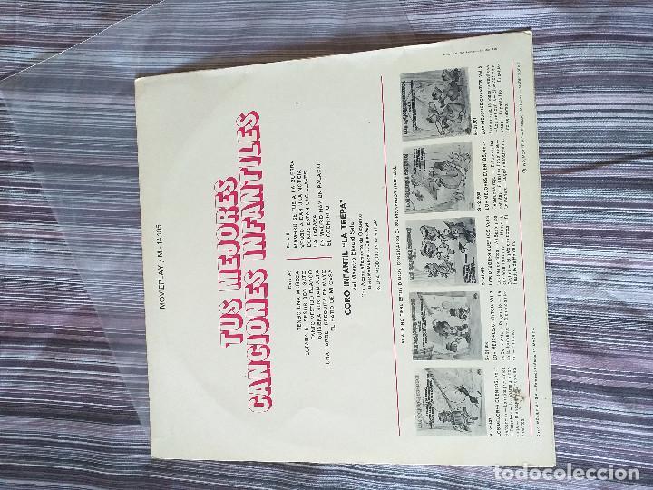 Discos de vinilo: VINILO TUS MEJORES CANCIONES INFANTILES MOVIE PLAY 1972 CORO INFANTIL LA TREPA - Foto 2 - 205606235