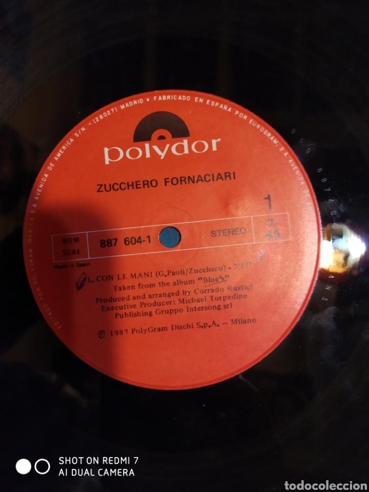 Discos de vinilo: Zucchero Sugar Fornaciari. Con le mani. Maxi single mix. - Foto 2 - 205612031