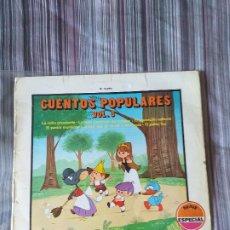 Discos de vinilo: VINILO CUENTOS POPULARES VOL. 3 YUPY, RATITA PRESUMIDA BELLA DURMIENTE SASTRECILLO VALIENTE. Lote 205648792