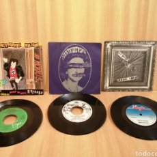 Discos de vinilo: SEX PISTOLS, SOMETHING ELSE, GOD SAVE THE QUEEN, PRETTY VACANT, 3 SINGLES.. Lote 205649076