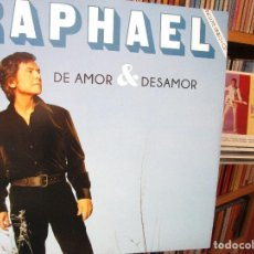 Discos de vinilo: RAPHAEL DE AMOR & DESEAMOR LP + CD // PROVOCACION / AMOR MIO / EN CARNE VIVA / AMAME / ..... Lote 205650477