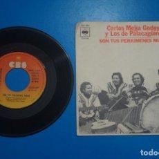 Discos de vinilo: SINGLE DE VINILO CARLOS MEJIA GODOY Y LOS DE PALACAGÜINA SON TUS PERJUMENES MUJER AÑO 1977. Lote 205655642