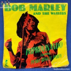 Discos de vinilo: SINGLE BOB MARLEY & THE WAILERS - IMPROVISANDO - PUNKY REGGAE PARTY - ESPAÑA - AÑO 1978. Lote 205655727