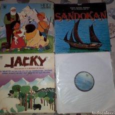 Discos de vinilo: LOTE. LP VINILO.X 4.MUSICA INFANTIL 4 LPS. HEIDI.JACKY.SANDOKAN.VARIOS. AÑOS 70.NOSTALGIA INFANTIL. Lote 205656321