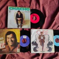Discos de vinilo: CHELE + CHACHO 3 SINGLES. Lote 205656360