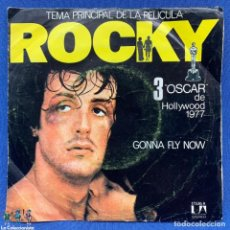 Discos de vinilo: SINGLE ROCKY - BANDA SONORA DE LA PELÍCULA - GONNA FLY NOW - ESPAÑA - AÑO 1976. Lote 205656596