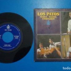 Discos de vinilo: SINGLE DE VINILO LOS PAYOS MARIA ISABEL AÑO 1969. Lote 205657710