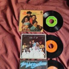 Discos de vinilo: THE ISLEY BROTHERS + THE DELLS 3 SINGLES ESPAÑOLES. Lote 205657985
