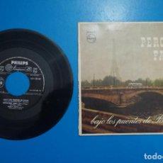 Discos de vinilo: SINGLE DE VINILO PERCY FAITH BAJO LOS PUENTES DE PARIS AÑO 1958. Lote 205657998