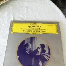 Discos de vinilo: BEETHOVEN. PARA ELISA.BAGATELAS ESCOCESAS.RONDÓS ANDANTES Y VARIACIONES PARA PIANO.WILHEM KEMPFF.LP. Lote 205658595