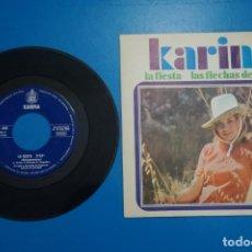 Discos de vinilo: SINGLE DE VINILO KARINA LA FIESTA AÑO 1968. Lote 205658612