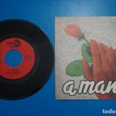 Discos de vinilo: SINGLE DE VINILO GRUPO CANELA A MANO AÑO 1983. Lote 205658910